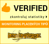 Monitoring placených tipů Bet-universe